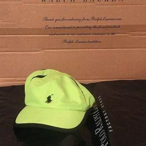 Polo Ralph Lauren Lime Green Black Adjustable Hat